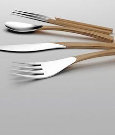 natural #design #knife #cutlery #fork #spoon