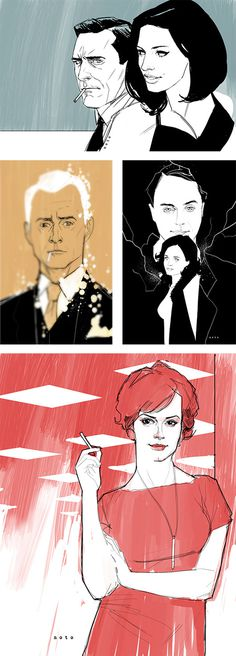 Awesome Illustrations by Phil Noto #illustration #mad #sketch #men