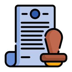 See more icon inspiration related to stamp, files and folders, rubber stamp, archives, certificate, documents, document, business and sign on Flaticon.