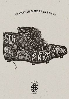 PrettyClever #rugby #xilo #shoes #typography