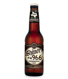 Shiner FM 966 Farmhouse Ale #packaging #beer #label #bottle