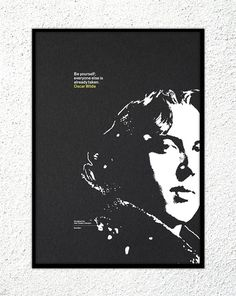"Print - Oscar Wilde: ""Be yourself; everyone else is already taken."" #print #design #screenprint #kickstarter #gfsmith"