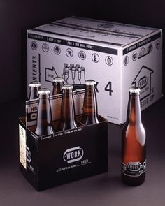 FFFFOUND! | WORK Beer : Lovely Package® . Curating the very best packaging design. #beer #branding #bottle #carton #6 #22oz #identity #logo #pack #work