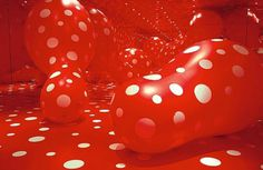 Walking In My Mind • Hayward Gallery • Southbank Centre #red #yayoi #installation #kusama #dots #art