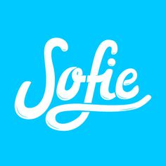 Sofie lettering