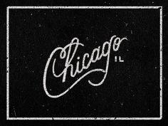 Typography_chicago #lettering #chicago