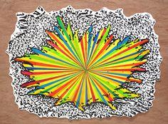 Splash, by Dan Bina #ink #new #drawing #wood #art #york #splash #paper #brooklyn #cutout