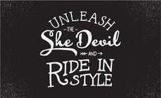 Handsome Cycles / Unleash the She Devil and Ride in Style by Marina Groh #lettering #bicycle #bike #custom #minneapolis #type #hand #typography