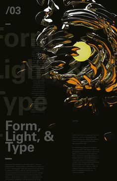 Form, Light, & Type by Christopher Vinca #form #cinema4d #print #design #vray #poster #type #layout #light