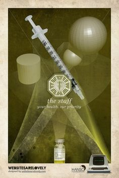 The Staff | Flickr: Intercambio de fotos #movie #design #graphic #initiative #dharma #vintage #poster #collage #tv #lost