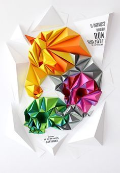 Don Quijote - Lobulo Design #design #color #paper #craft