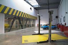 ultra-architects: garage office  SEB: Floors