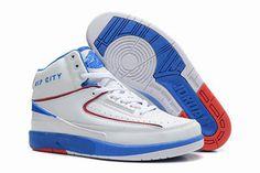 Mens Air Jordan 2 II Retro Rip City Richard Hamilton PE White/Blue Athletic Trainers #fashion