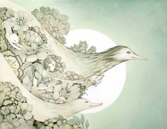 Amy Sol #poster #birds #girl