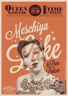 #poster #vintage #retro #lindyhop #swing #meschiyalake #micheletenaglia