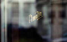 Café Amalia — Tom Clayton / Swear Words #signage #identity #branding #foil