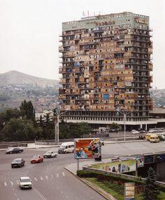 Mikheil Godabrelidze #towers #fields #architecture #facades