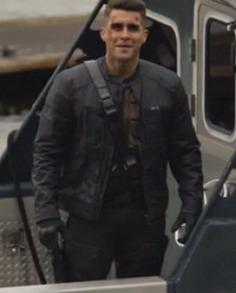Josh Segarra Arrow Padded Leather Jacket (1)