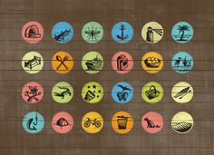 Holbox Pictograms on the Behance Network