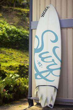 Surf HI surfboard. Christopher Vinca #logo #surfboard #photography #surf