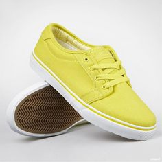 "Skor ""Forte"" Fluoro Yellow/White #sneakers"