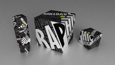 Cube, Typography, 3D Render #render #typography #box #type #3d #cube