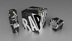 Cube, Typography, 3D Render