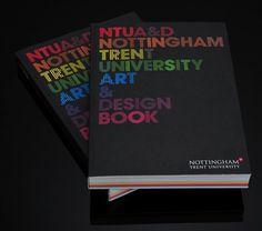 NTU Art & Design Book 08/09 : Andrew Townsend #print #typography
