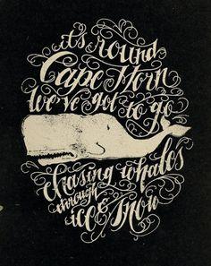 Jon Contino   Fubiz™ #lettering #whale
