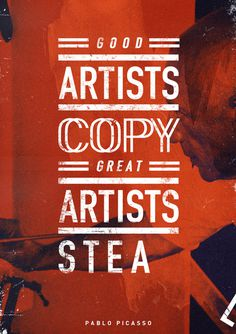 suspensefulgraphics:Great Artists Stea #quote #type #design #poster