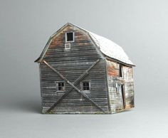 Broken Miniature Houses Series – Fubiz™ #sculpture #house #art #broken #miniature