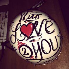Valentines Day gift. #pens #helmet #markers #handwritten #valentine #type #posca #love