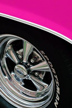Photographer: Fabrizio Raschetti #photography #color #pink #car #wheel