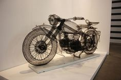 A Peek Inside ART HK 2011 | Colossal #sculpture #wire #wireframe #art #motorcycle