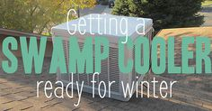 Winterizing a swamp cooler #animations #infographic