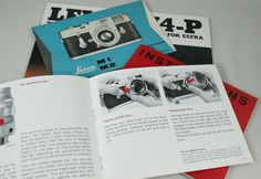 Set of Original Leica Instruction Manuals and Brochures for the M Series circa 1960s 1970s #camera #vintage #brochure