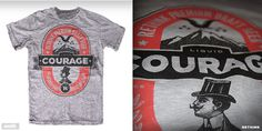Liquid Courage T shirt design by Smiths Canvas Mintees