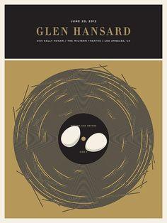 Glen Hansard - Poster - JASON MUNN #munn #egg #small #nest #jason #bird #record #stakes