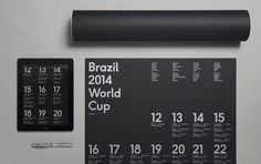 Brazil 2014 World Cup wallchart – Designed by Karoshi #world #app #poster #type #cup