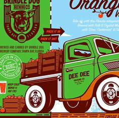 Brindle Dog Brewing Co. Artwork #packaging #beer #label