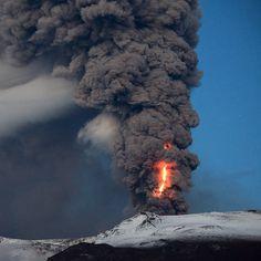 Iceland volcano erupting