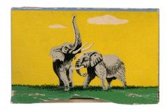 Like Blog | The Matchbook Registry | Rilex House #illustration #elephants #matchbook