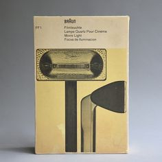 All sizes | Braun FF 1 movie light | Flickr - Photo Sharing! #packaging #braun