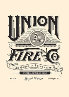 Union Fire Co #times #vintage #style #modern