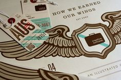 design work life » Creative Suitcase Promotional Materials #creative #karl #suitcase #hebert #map #illustration