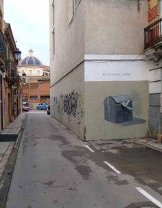 street paintings by artist escif #streetart
