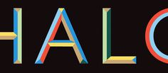 The Halcyon Islington brand identity #lettering #colour #typography