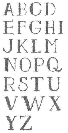 Graphic Design & Web Design Blog: Tangle experimental font #typography
