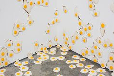 7,000 Handmade Fried Egg Sculptures by Christopher Chiappa