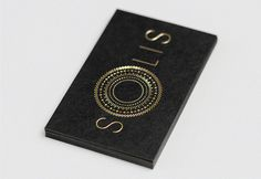 Solis Business Cards #business card #black #gold #solis